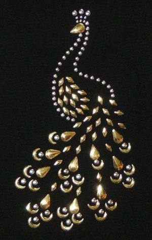 SC159: Swarovski krystallmotiv – Peacock