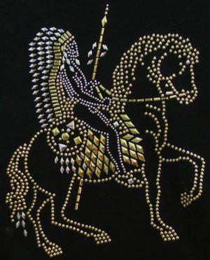 SC377: Swarovski krystallmotiv – Indian on Horse