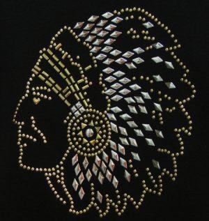 SC81: Swarovski Krystallmotiv – Indian Head