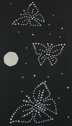 SC384: Swarovski krystallmotiv – 3 Butterflies (A/B Crystals)