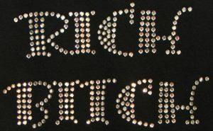 SC386: Swarovski krystallmotiv – Rich Bitch