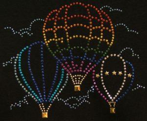 SC411: Swarovski Krystallmotiv – Hot Air Balloons