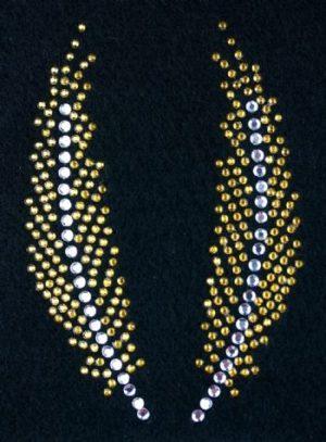 SC707: Swarovski krystallmotiv – Twin Goldfeathers