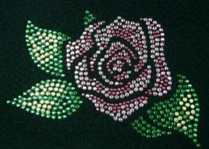 SC711: Swarovski Krystallmotiv – Pink Rose