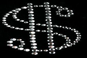 SCA14: Swarovski krystallmotiv – Dollar Sign