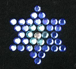 SCZ22: Swarovski Krystallmotiv – Crystal Star (blue)